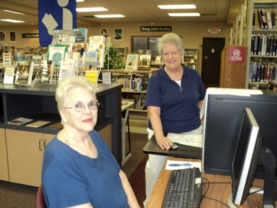 Gayle with Marian, Basic Computer Class 7-13