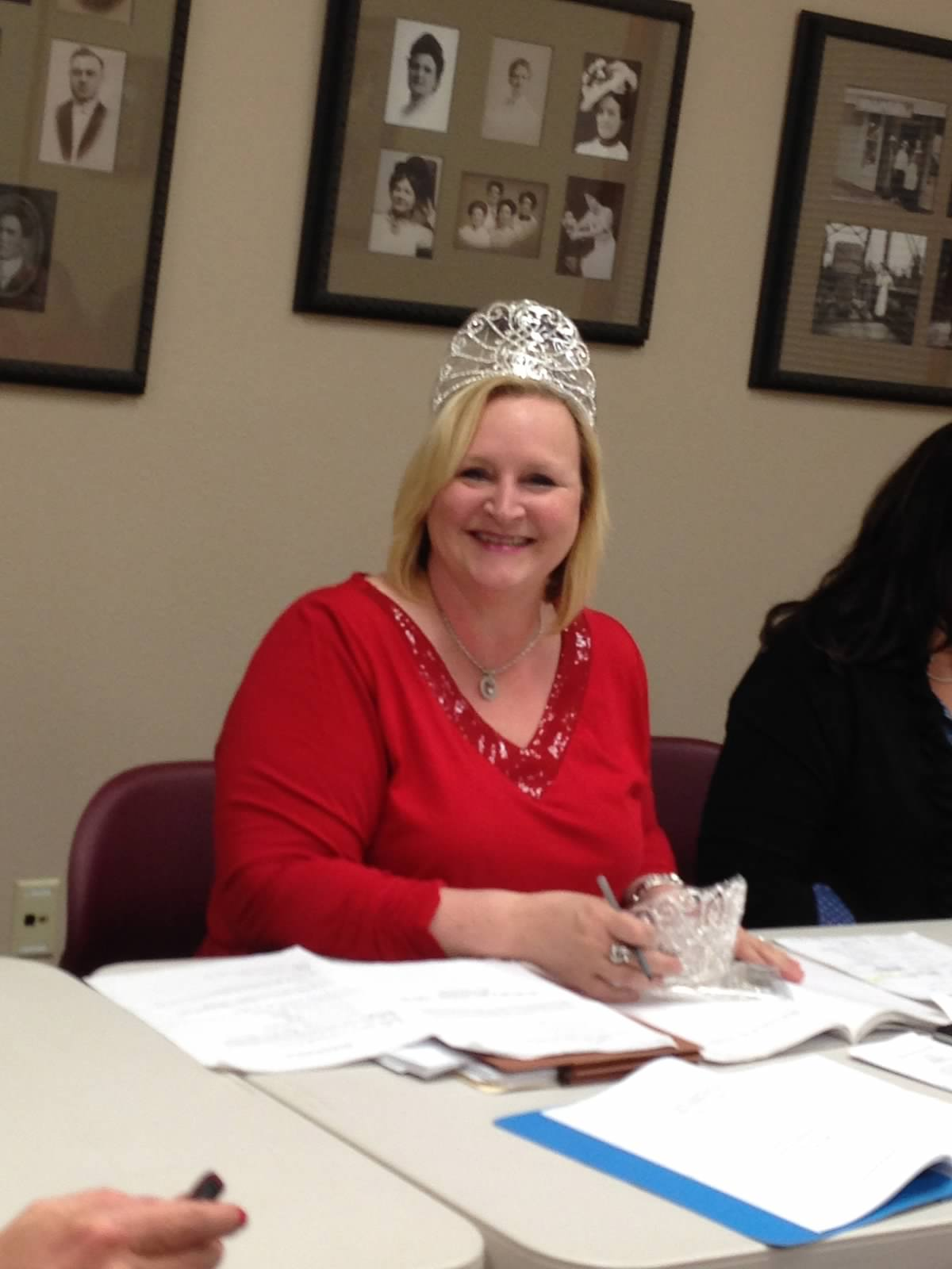 WC President Models Pageant Crown